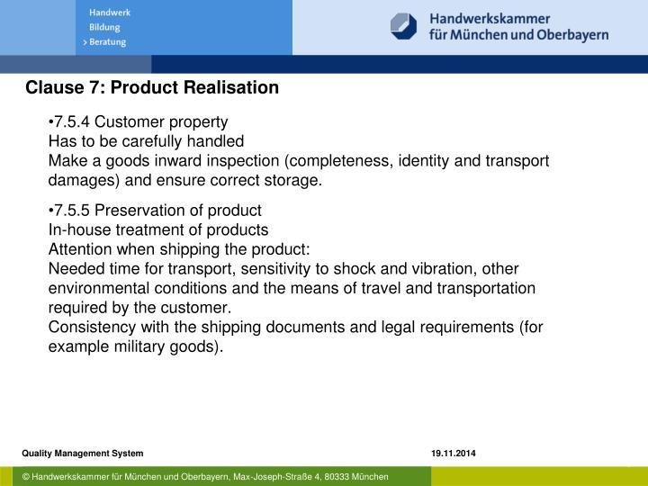 7.5.4 Customer property