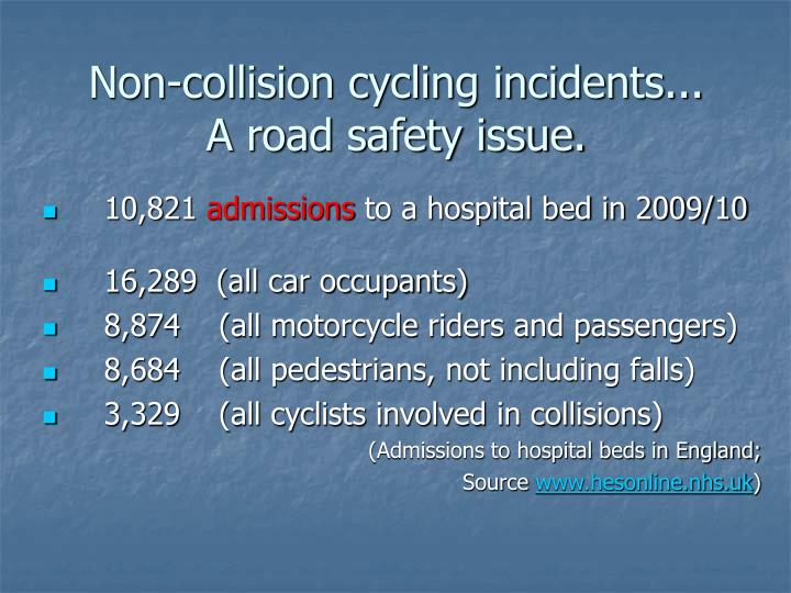 Non-collision cycling incidents...