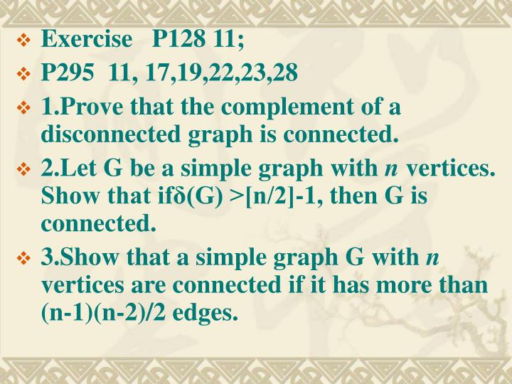 Exercise   P128 11;