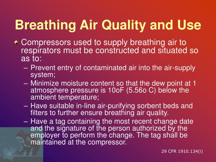 Breathing Air Quality and Use