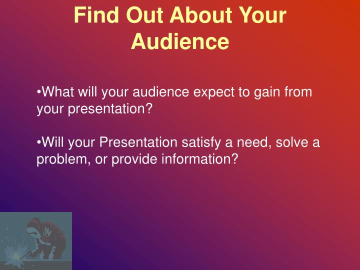 Find Out About Your Audience