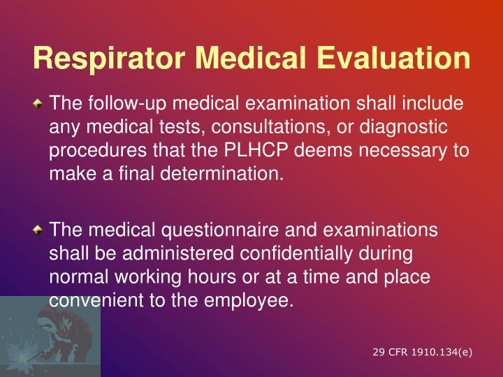 Respirator Medical Evaluation