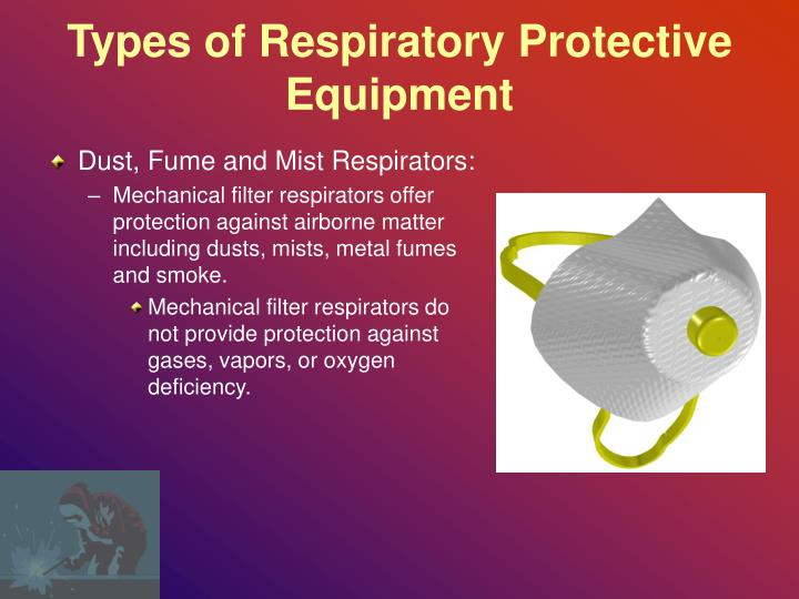 Types of Respiratory Protective Equipment