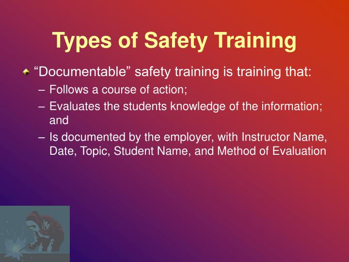 Types of Safety Training