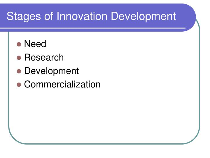 Stages of Innovation Development