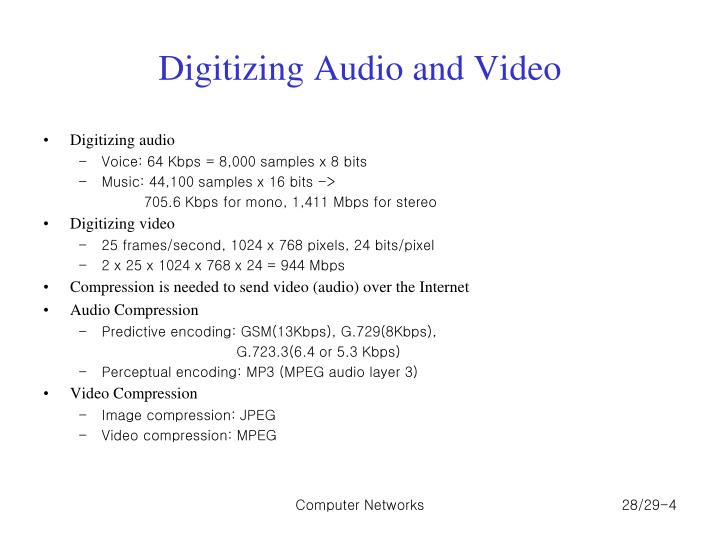 Digitizing Audio and Video