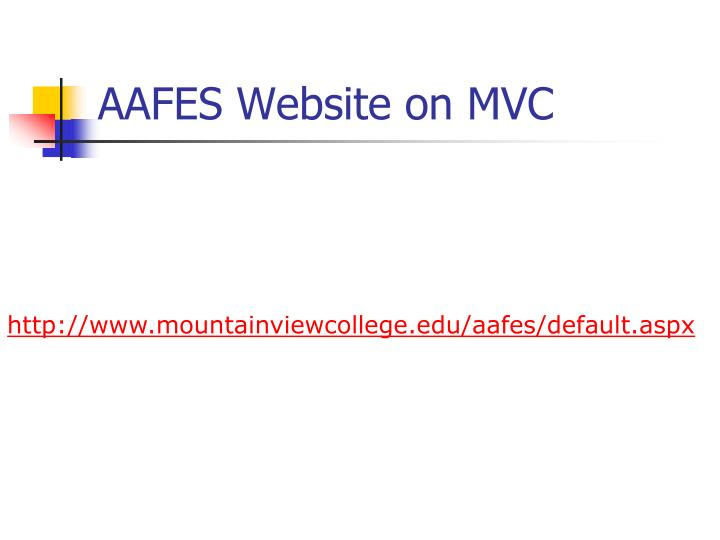 AAFES Website on MVC