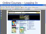 online courses logging in