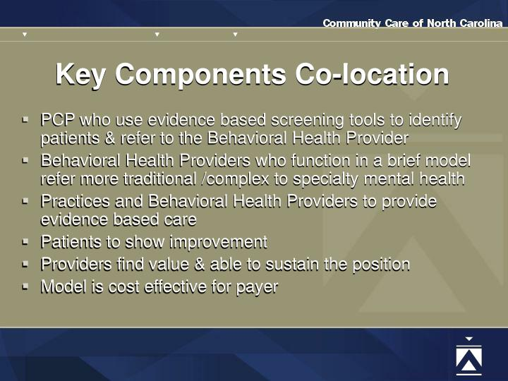 Key Components Co-location