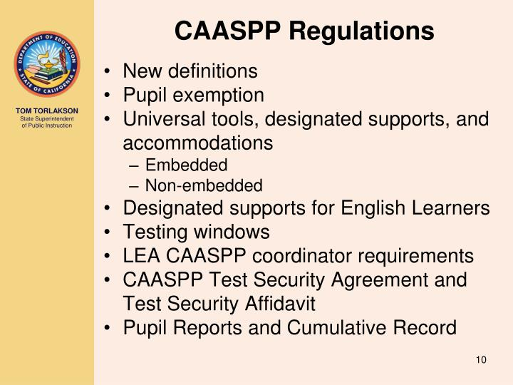 CAASPP Regulations