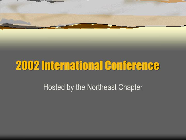 2002 international conference