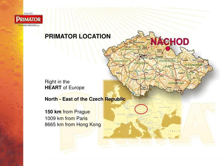 PRIMATOR LOCATION