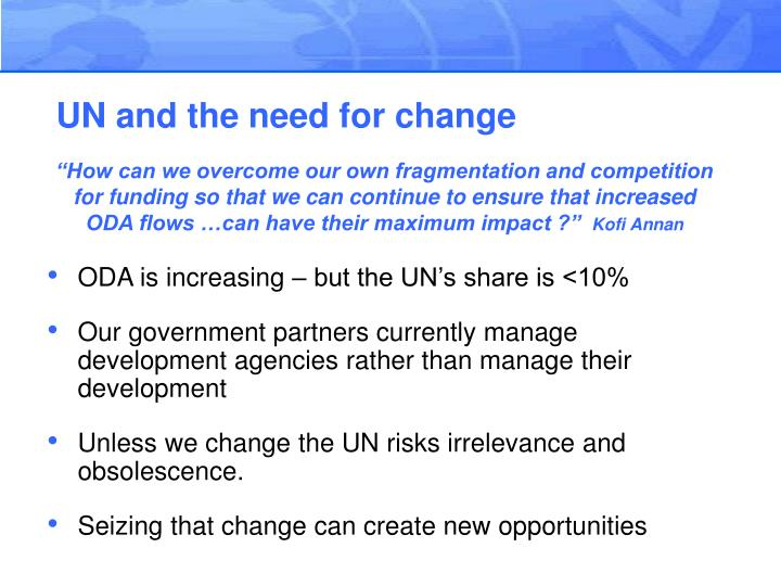 UN and the need for change