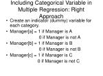 including categorical variable in multiple regression right approach