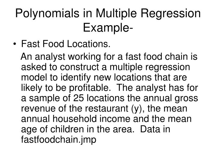 Polynomials in Multiple Regression Example-