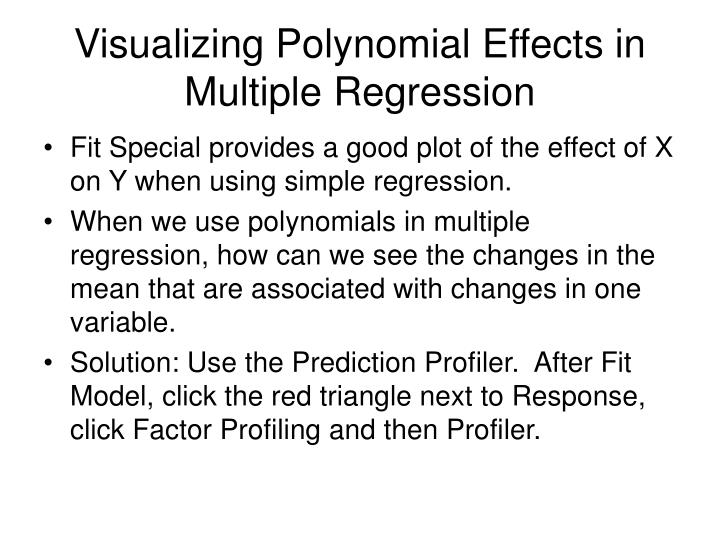 Visualizing Polynomial Effects in Multiple Regression