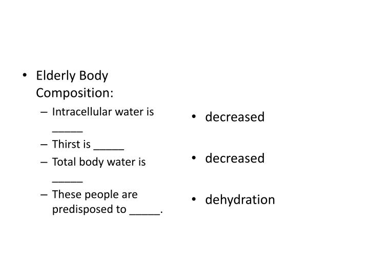 Elderly Body Composition:
