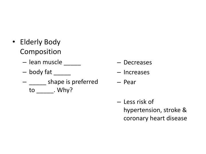 Elderly Body Composition