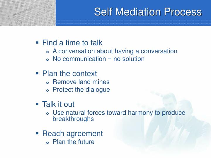 Self Mediation Process