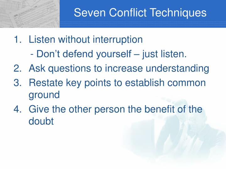 Seven Conflict Techniques