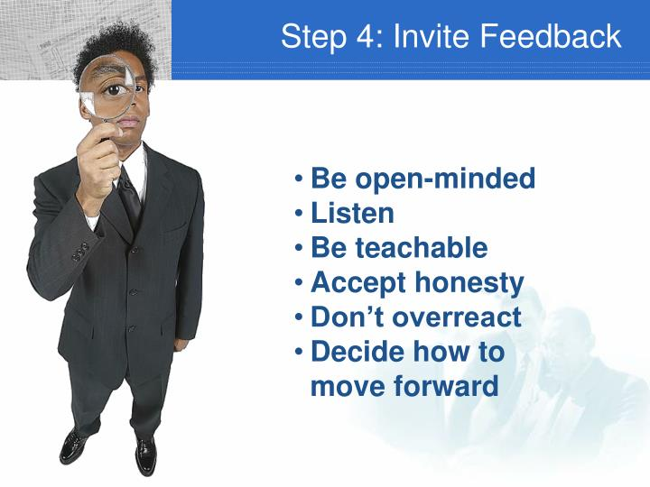 Step 4: Invite Feedback
