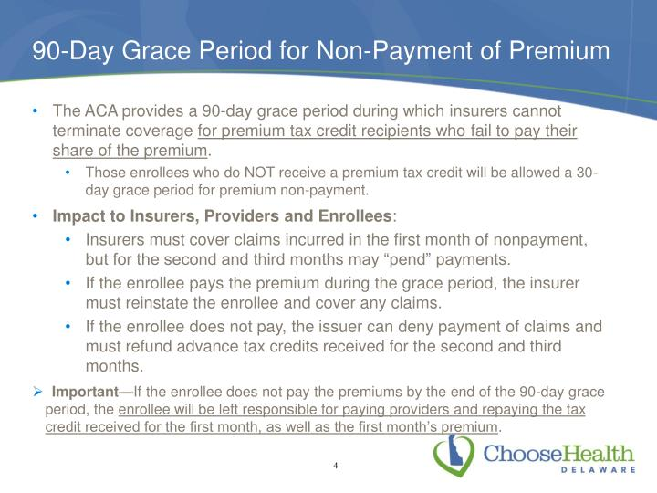 90-Day Grace Period for Non-Payment of Premium