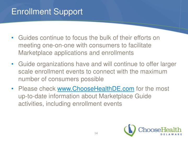 Enrollment Support