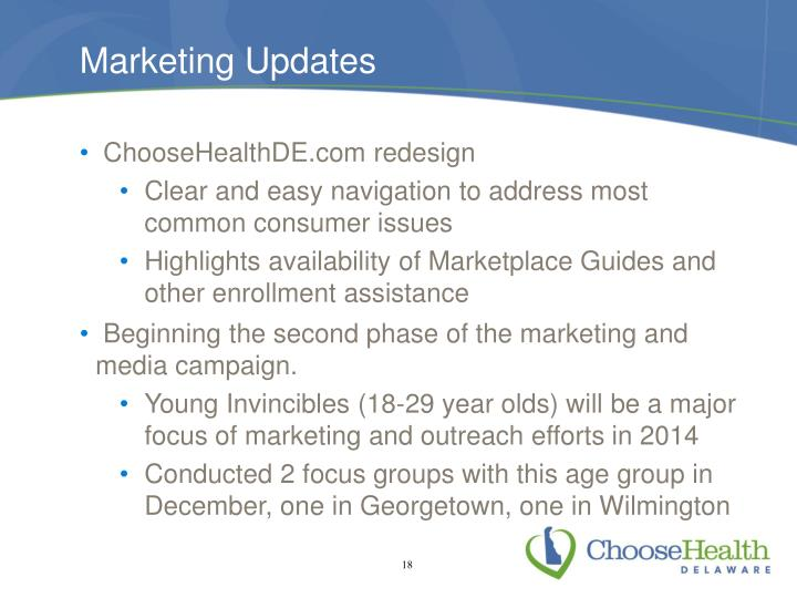 Marketing Updates