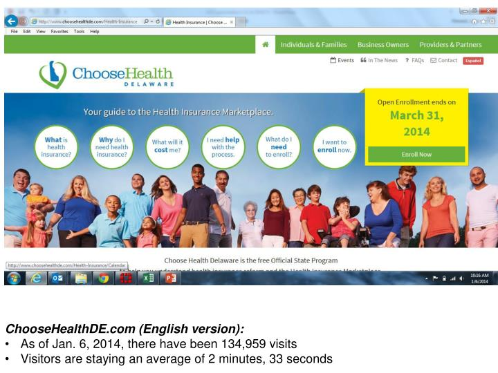 ChooseHealthDE.com (English version):
