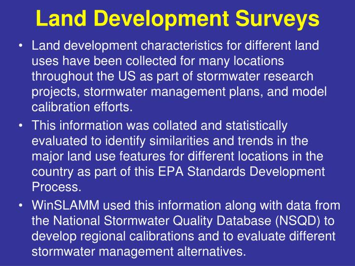 Land Development Surveys