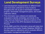 land development surveys
