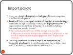 import policy