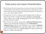 trade policy and export diversification