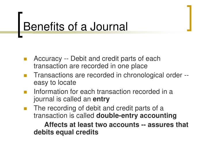 Benefits of a Journal