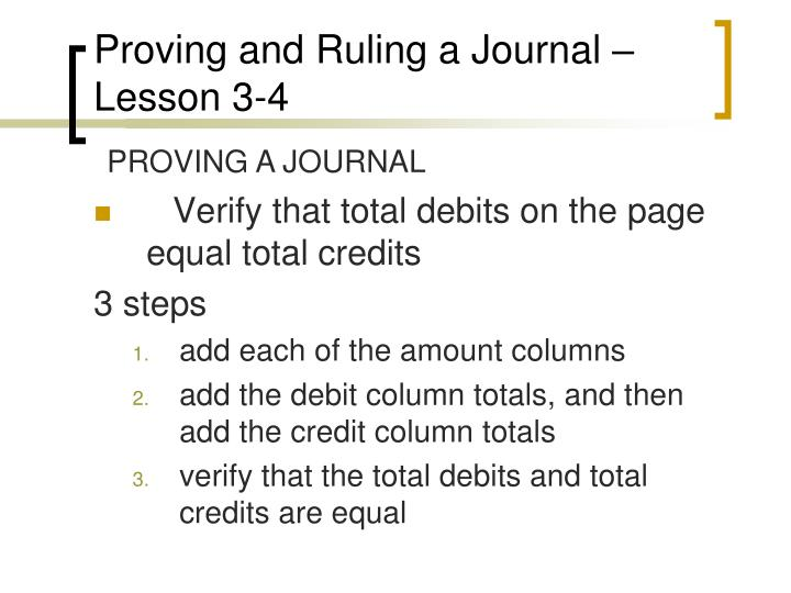 Proving and Ruling a Journal – Lesson 3-4