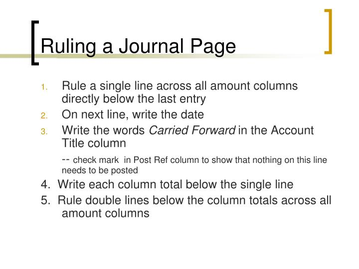 Ruling a Journal Page