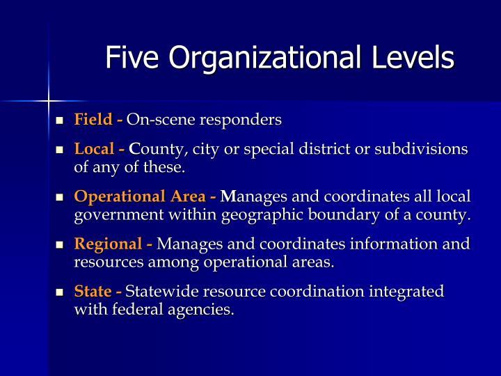 Five Organizational Levels