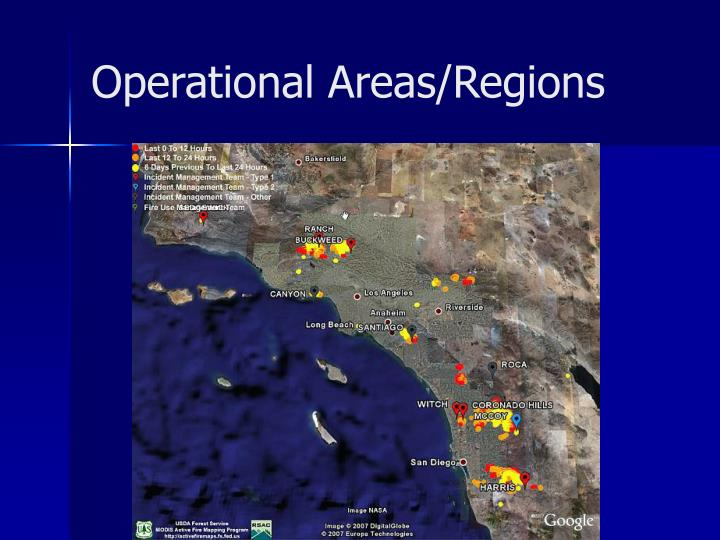 Operational Areas/Regions