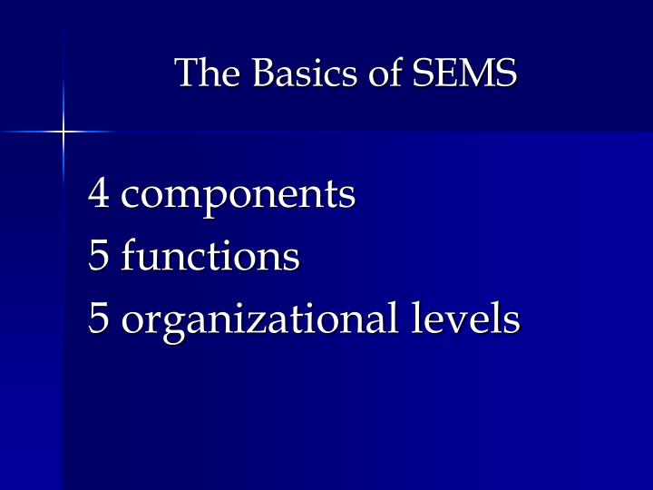 The Basics of SEMS