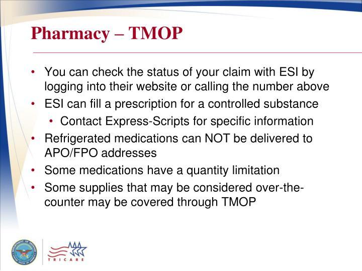 Pharmacy – TMOP