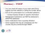 pharmacy tmop1