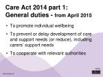 care act 2014 part 1 general duties from april 2015