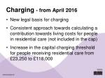 charging from april 2016