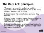 the care act principles