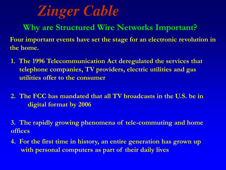 Why are Structured Wire Networks Important?