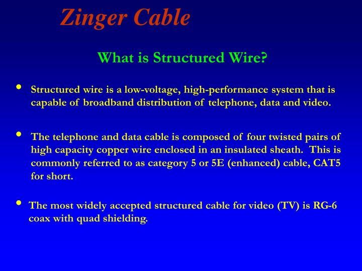 What is Structured Wire?