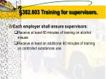 382 603 training for supervisors