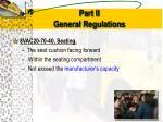 part ii general regulations1