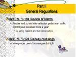 part ii general regulations10