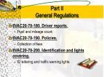 part ii general regulations11